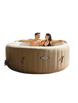 28404 Бассейн-джакузи Bubble Massage 145/196х71см, круглый с круговым пузырьковым массажем191х71 см Intex