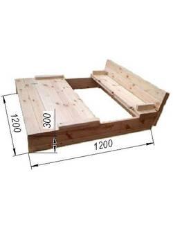 Песочница деревянная с1006 (1,2х1,2 м)