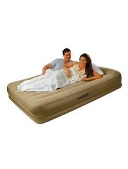 Надувная кровать 152х203х35 см, Queen Pillow Rest, Intex 67748