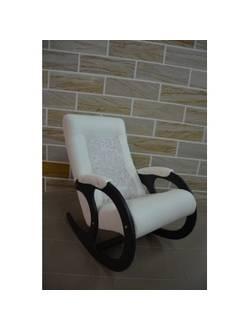 Кресло-качалка Бастион 3 бежевый + вставка цветы