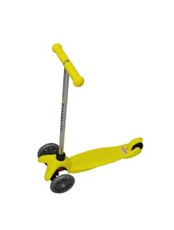 Самокат для детей 5-12 лет желтый, Sundays SA-100A-2