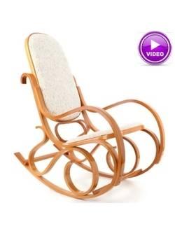 Кресло-качалка M192 вельвет (светлый или темный)