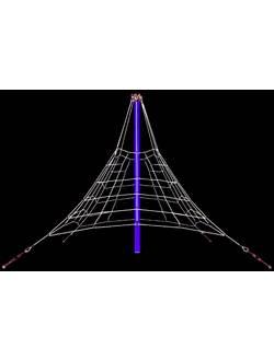 Пирамида канатная Giza mini (2,7 м)