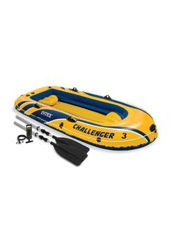 Надувная трёхместная лодка Challenger-3 Set Intex 68370NP