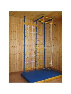 Детский спортивный комплекс Городок Г-образный с сеткой 60 см