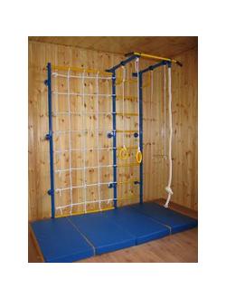 Детский спортивный комплекс Городок пристенный с сеткой 1 м