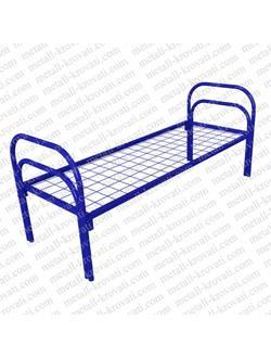 Кровать металлическая одноярусная усиленная КС-8 для лагеря