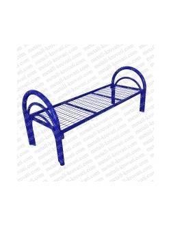 Кровать металлическая одноярусная усиленная (2 перемычки+ двойная ножка) КС-2У2