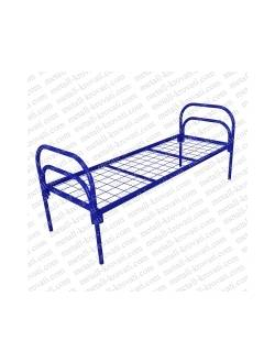 Кровать металлическая одноярусная усиленная (+2 перемычка) КС-7У для строителей