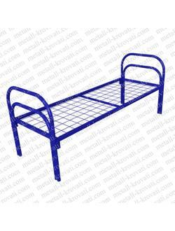 Кровать металлическая одноярусная усиленная (+1 перемычка + двойная ножка) КС-6У для больницы