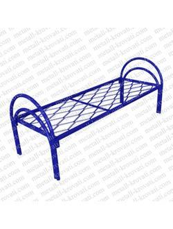 Кровать металлическая одноярусная сетка прокатная пружина усиленная КП-5