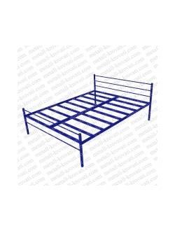 Двухспальная одноярусная металлическая кровать КМ-4