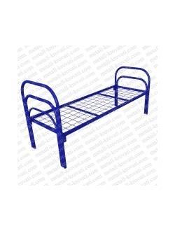 Кровать металлическая одноярусная усиленная (+2 перемычка + тройная ножка) КС-10У