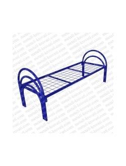 Кровать металлическая одноярусная усиленная(2 перемычки + тройная ножка) КС-5У
