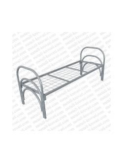 Кровать металлическая одноярусная усиленная, сетка прокатная пружина КС-4У