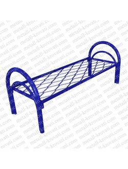Кровать металлическая одноярусная усиленная сетка прокатная пружина КС3-У3