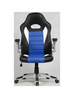 Офисное кресло Mio Tesoro Данте AOC-8033 (черный/белый/синий)