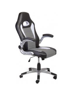 Офисное кресло Mio Tesoro Данте AOC-8033 (черный/белый/серый)