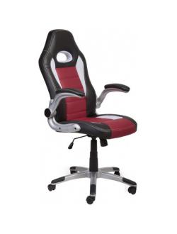 Офисное кресло Mio Tesoro Данте AOC-8033 (черный/белый/красный)
