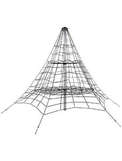Пирамида канатная Giza (4,5 м) алюминий