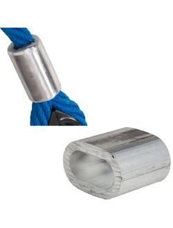 Гильза алюминиевая овальная обжимная