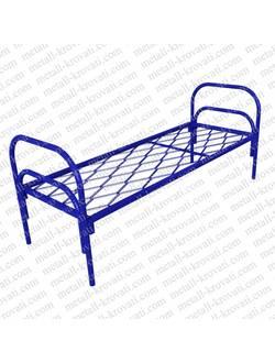 Кровать металлическая одноярусная сетка прокатная пружина КП-4
