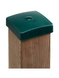 Заглушка (крышка) пластик наружная квадратная 100х100 мм (М)