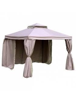 3x3м, 0933, Газебо (шатер, беседка) LEGEND, каркас: алюминий, навес и боковые стенки: полиэстер с PVC-покрытием, цвет: бежевый; с противомоскитной