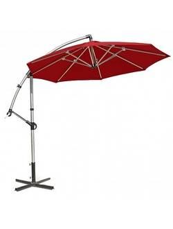 11784, Зонтик от солнца CAPRI, D3m, алюминиевая стойка D60/48mm, 8 ребер: 15x22mm; ткань покрытия: полиэстер; цвет: красный.