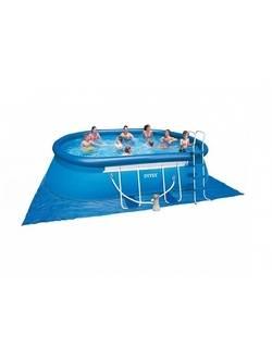 28192/54932 Надувной бассейн Oval Frame 549x305x107 см, Intex + фильтр-насос, картриджный фильтр, лестница, подстилка, покрывало