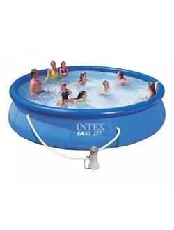 28162/56412 Надувной бассейн Easy Set 457x91 см, Intex + фильтр-насос, картриджный фильтр