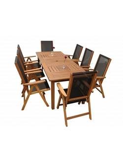 Комплект садовой мебели Sundays COMPLIMENT 89425/88814 (8 стульев), акация из Малайзии