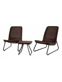 Комплект мебели KETER Rio Patio set (Кетер Рио Патио Сэт), коричневый