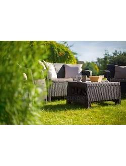 Комплект мебели Corfu Set в стиле Ротанг, цвет темно-коричневый