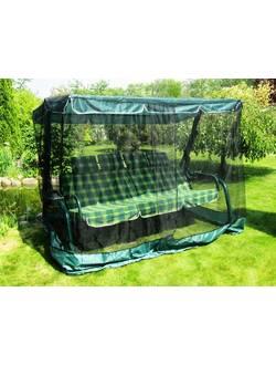 Москитная сетка для садовых качелей «Универсальная» (черная + зеленый волан)