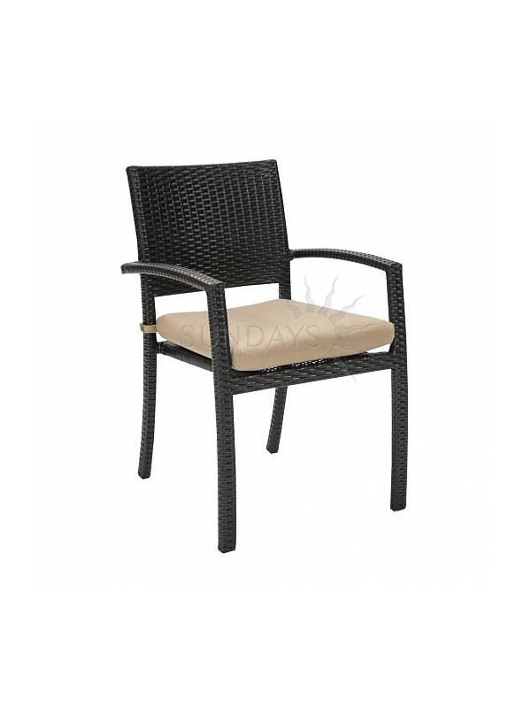 Садовый стул с подушкой Garden4you STELLA 13145, тёмно-коричневый