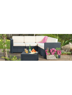 Комплект угловой мебели KETER Provence Set, графит