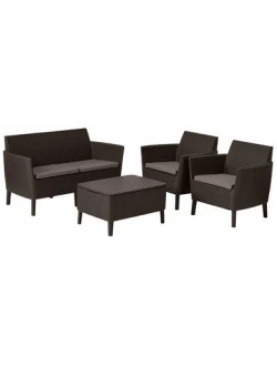 Комплект мебели Salemo 2-sofa set (Салемо), коричневый