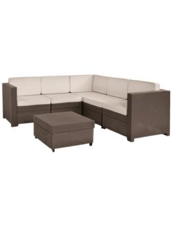 Комплект угловой мебели KETER Provence Set, коричневый