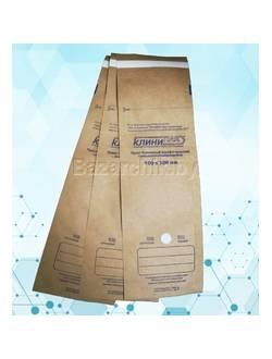 Крафт-пакеты для воздушной и паровой стерилизации самозапечатывающиеся 100х300 мм (100 шт.)
