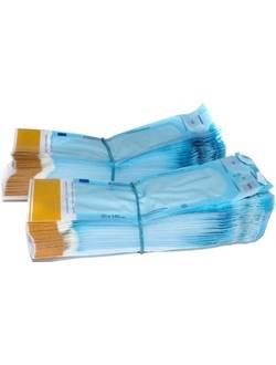 Пакеты для паровой, газовой, плазменной и радиационной стерилизации самозапечатывающиеся 75х250 мм (200 шт)