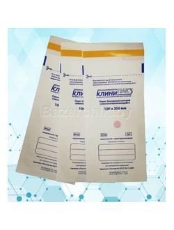Пакеты белые для воздушной и паровой стерилизации самозапечатывающиеся 100х200 мм (100 шт.)