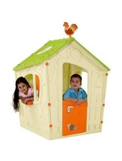 Детский уличный игровой домик Magic Play House, бежево-зеленый