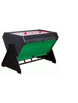 "Стол - трансформер ""Vortex 3-in-1"" (3 игры: аэрохоккей, футбол, бильярд, 127 х 78.7 х 86.4 см, серый)"