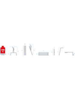 Рабочие подмости проф. 3х6х3 с мет. помостом NV3341 Новая высота 3341363