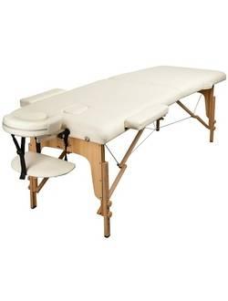 Массажный стол Atlas Sport складной 2-с деревянный 70 см (бежевый)