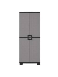 Шкаф пластиковый высокий UP KETER, серо-черный