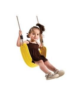 Детские подвесные качели EVA KBT желтые