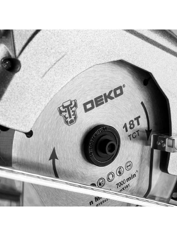 Пила циркулярная аккумуляторная DEKO DKCS20 Laser SET 2