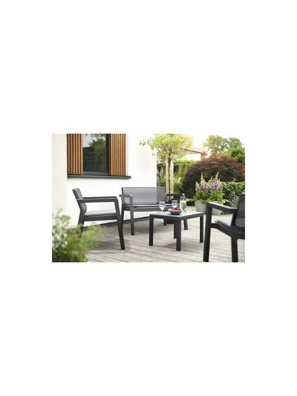 Комплект мебели (2х местный диван, 2 кресла, столик) Emily 2 seater, c/п, графит